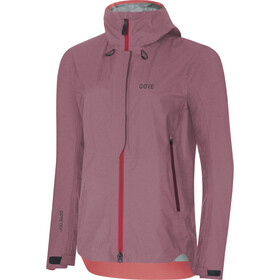 GORE WEAR W's H5 Gore-Tex Active Hooded Jacket Chestnut Red/Hibiscus Pink